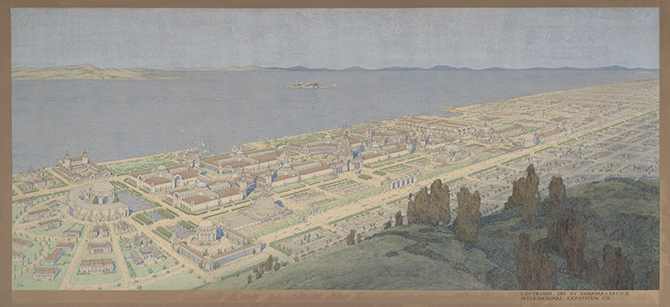 Jules Guérin, Panoramic View of the Panama-Pacific International Exposition, 1913