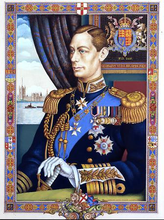 Szyk, Arthur, King George VI, London: 1938. Original watercolor and gouache pain