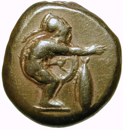 coin with man crouching