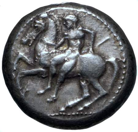 coin with man and horse