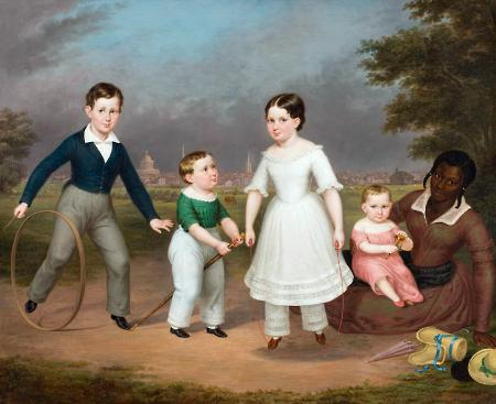 Robert, Calvin, Martha, and William Scott and Mila, ca. 1843–1845