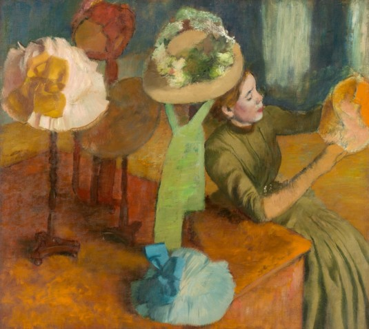 "Edgar Degas, ""The Millinery Shop,"" 1879–1886. The Art Institute of Chicago"