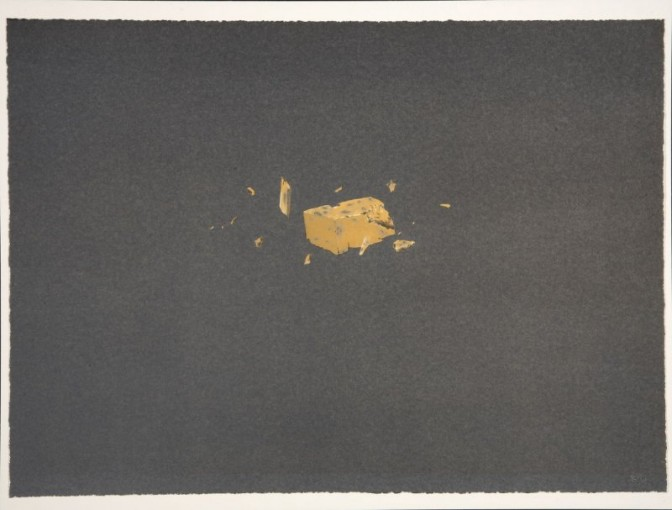 Edward Ruscha, Exploding Cheese from the Various Cheeses series, 1976. Lithograph On Arches 88 Paper, (14 7/8 x 20 1/2 in. Museum purchase, Mrs. Paul L. Wattis Fund.