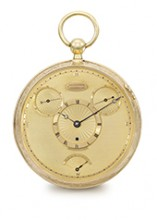 Gold pocket watch with tourbillon
