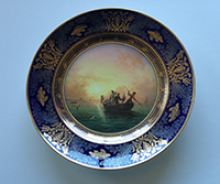 Plate from the Fisheries Service. Porcelain. Sèvres (private collection)