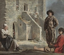 Le Nain, Peasants before a House, ca. 1640