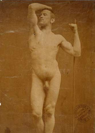 """Gaudenzio Marconi, Auguste Neyt, Model for """"The Age of Bronze,"""" 1877"""