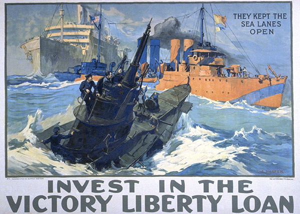 "Leon Alarac Shafer, ""They Kept the Sea Lanes Open / Invest In the Victory Liberty Loan"", 1919"
