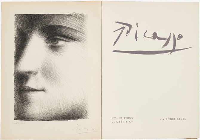 Pablo Picasso, Visage [Marie-Thérèse Walter], frontispiece in Picasso, by André Level (Paris: Les Éditions G. Crès and Cie, 1928)