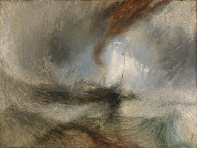 Joseph Mallord William Turner, Snow Storm—Steam-Boat off a Harbour's Mouth