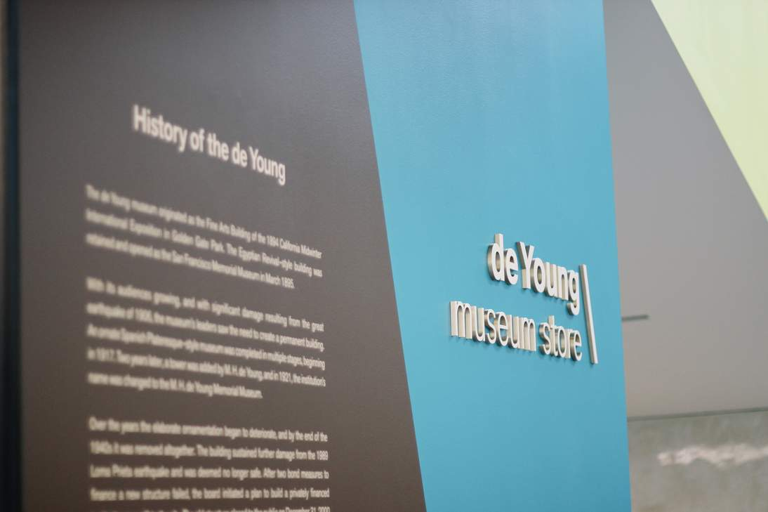 Signage  at    the  de  Young  has  been  added  to  improve  wayfinding  for  visitors.