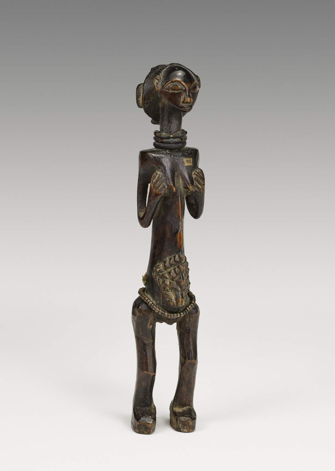Luba artist, Figure, 19th century, Democratic Republic of Congo