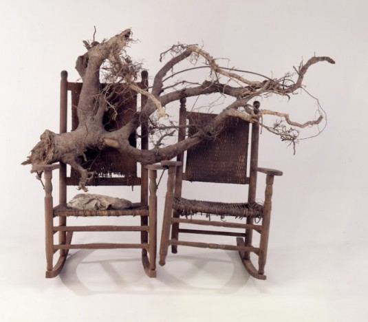 """Lonnie Holley, """"Him and Her Hold the Root,"""" 1994."""