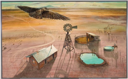 Peter Hurd, A Ranch on the Plains, ca. 1954