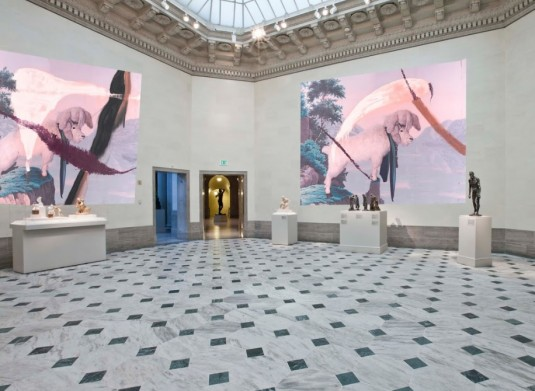 "Artist installation proposal of ""Julian Schnabel"" at the Legion of Honor"