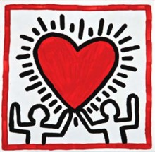 Keith Haring, Untitled, 1982. Baked enamel on steel. Collection of Justin Warsh © 2014, Keith Haring Foundation