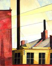 """Charles Demuth, """"From the Garden of the Château"""", 1921 (reworked 1925) cult of the machine de young"""