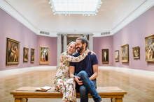 Young members enjoy the Legion of Honor galleries