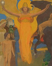 Arthur Frank Mathews, The Victory of Culture over Force (Victorious Spirit)