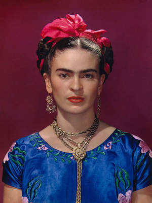 Frida Kahlo in Blue Dress by Nickolas Murray